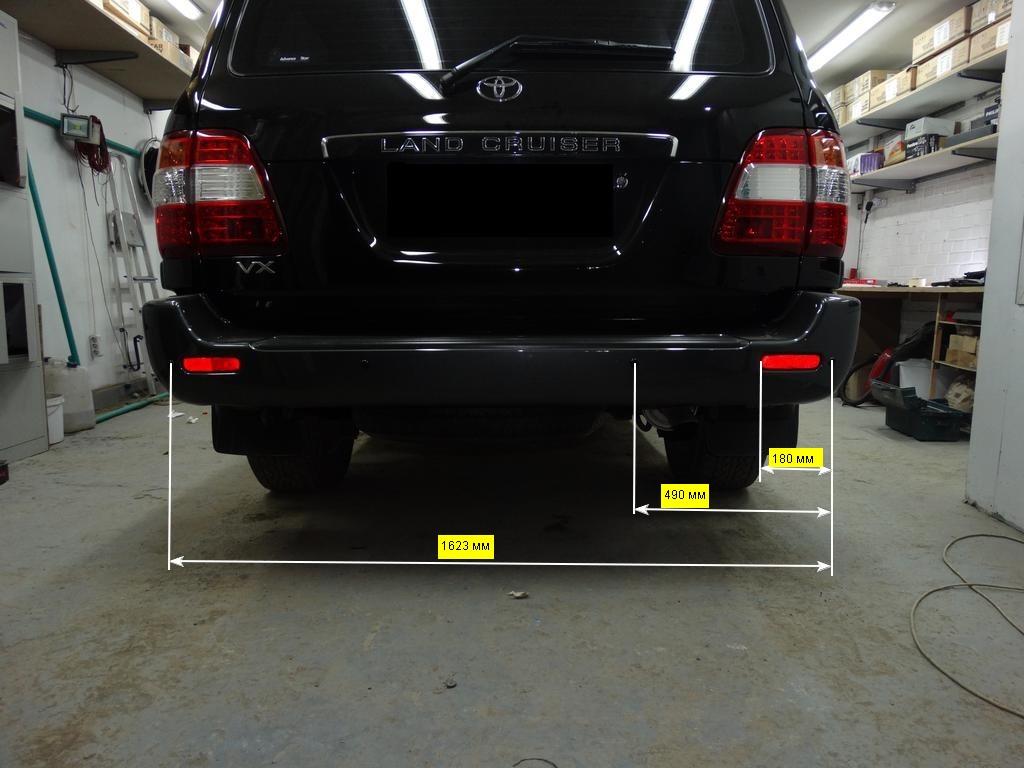 схема установки парктроника Toyota Land Cruiser